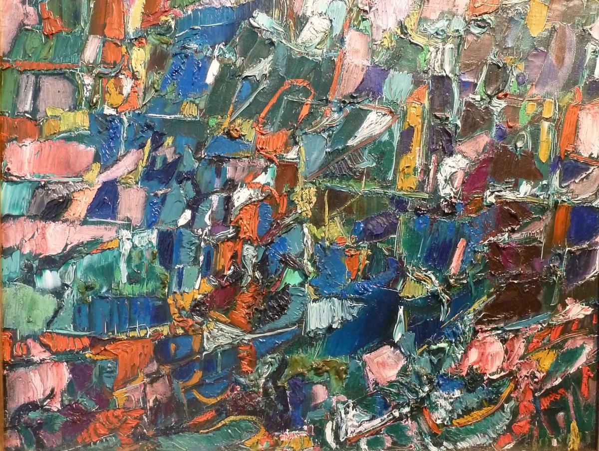 Lanskoy (1902-1976) - Sans Titre, Circa 1945 Huile sur toile, 45 x 54 cm