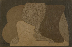 Charchoune (1888-1975), Composition, Huile sur toile collée sur panneau, 22 x 34 cm