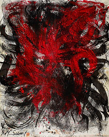 Yasuo SUMI, Untitled SY-95, 1987, huile sur toile, 166 x 135cm