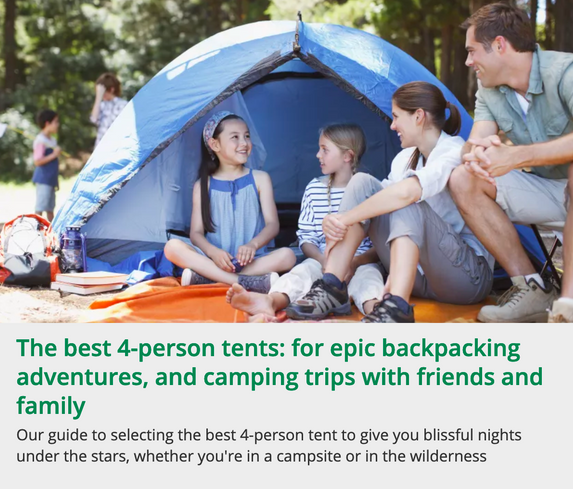 The best-person tents buying guide