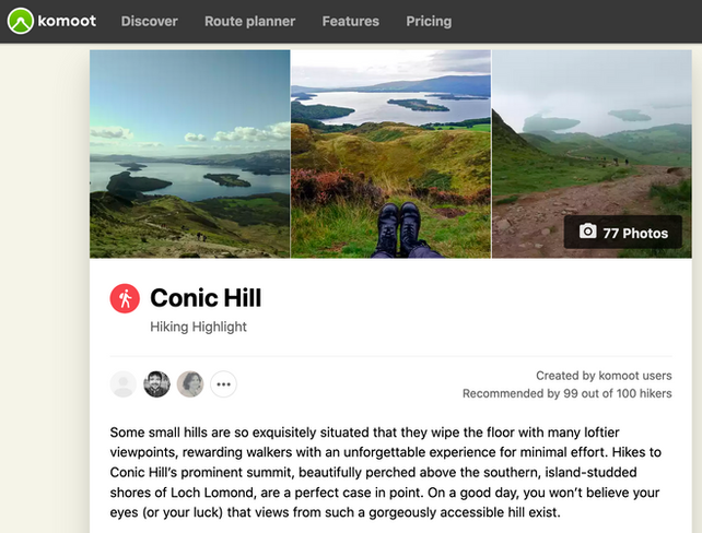 Conic Hill SEO Highlight