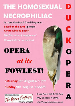 The HomosexualNecrophiliac Duck Opera Poster