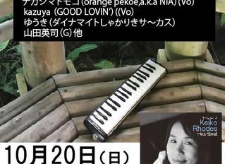 【Live】Keiko Rhodesさんのライブに参加します