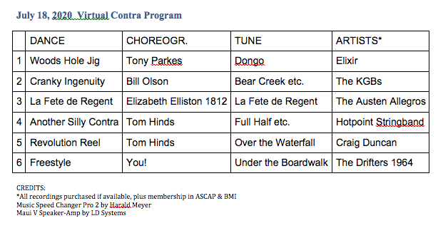 wooster dance contra program July 18 2020