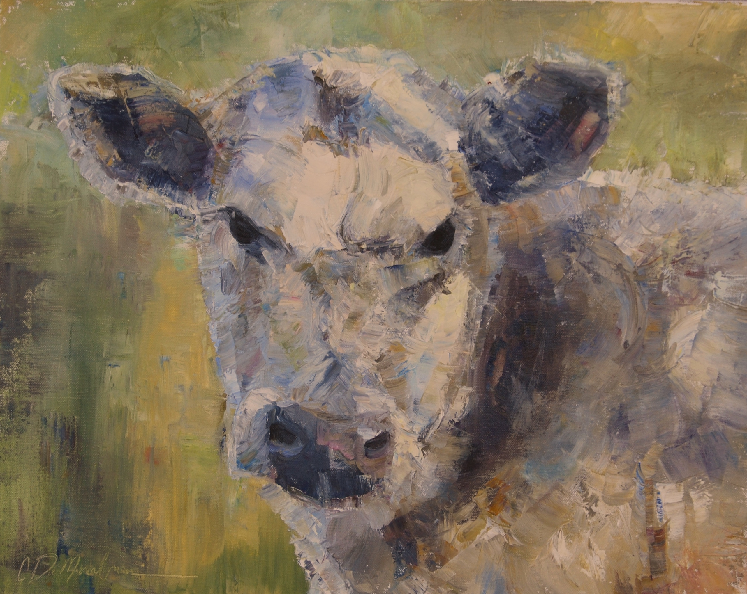 White Cow_ Palette knife