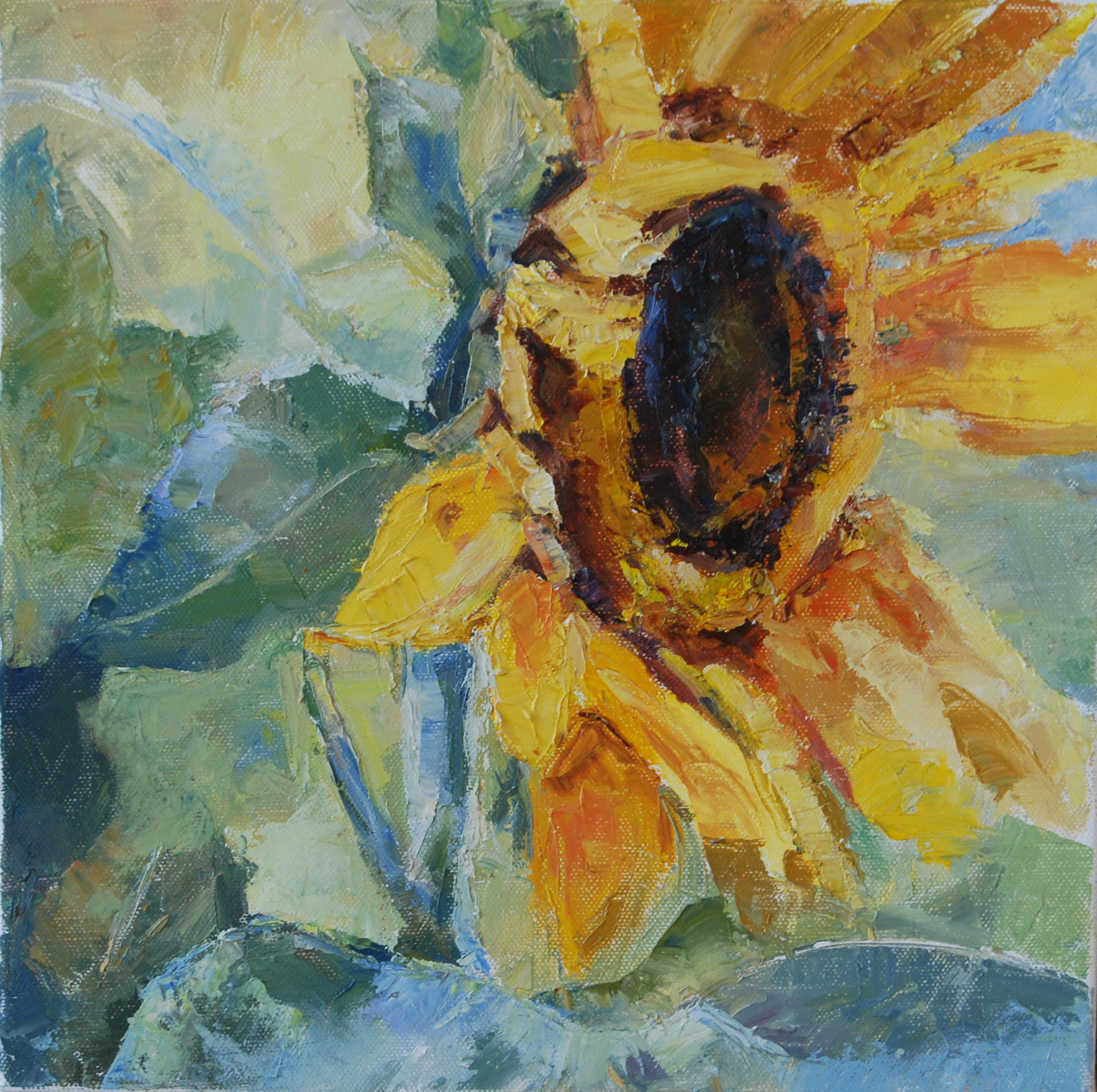 Sunflower, original oil by Carol DeMumbrum.jpg