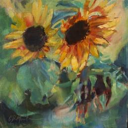 Sunflowers, Flower, Still Life, Impressionistic, Yellow, Farmhouse decor, Yellow, Orange, Garden, Kitchen Art, Flower Garden, Country chic