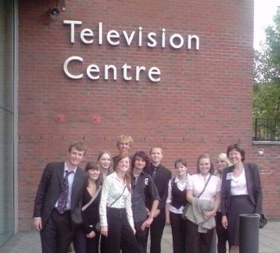 Outside the BBC Television Centre
