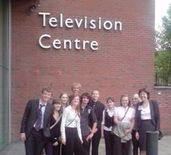 Outside the BBC Television Centre