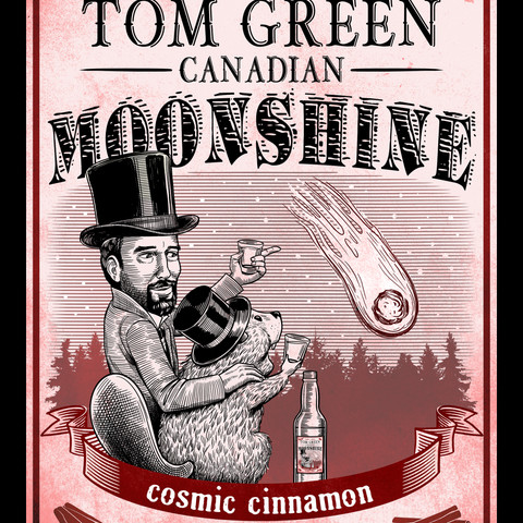 Tom Green Canadian Moonshine label, Cinnamon