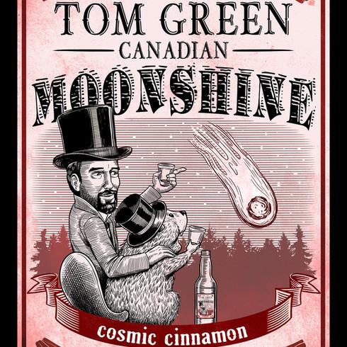 Tom Green Canadian Moonshine label, Cinnamon