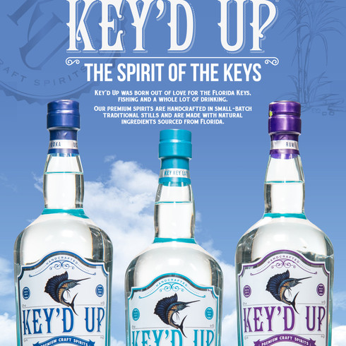 Key'd Up sell sheet (front), for Key'd Up