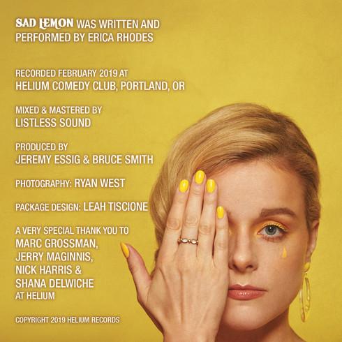 Erica Rhodes album cover (middle)
