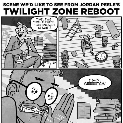 Twilight/Peele Mashup, for MAD Magazine