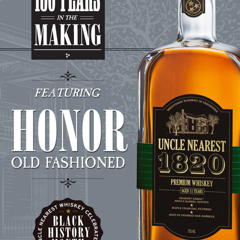 Menu Card, for Uncle Nearest Whiskey