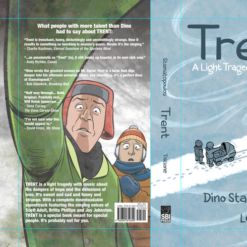Book Cover design, for graphic novel TRENT