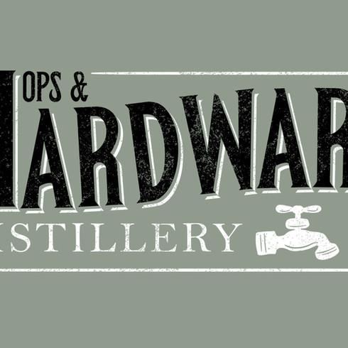 Hops & Hardware logo design