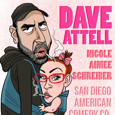 Dave Attell and Nicole Schreiber, show flyer