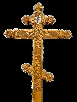 """Крест """"Сердечко светлый резной"""""""