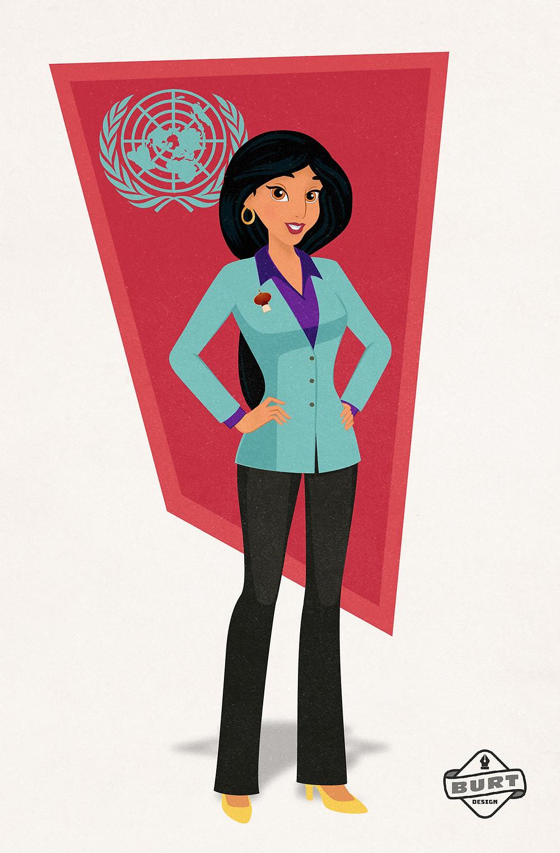 Disney Princess Jasmine (Aladdin) become UN Ambassador