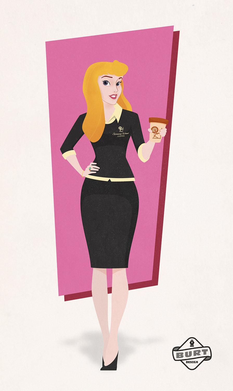 Disney Princess Aurora (Sleeping Beauty) become coffee company CEO