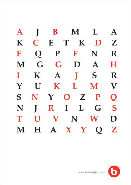FreeGift Poster ABC-Z Simple Mono 02