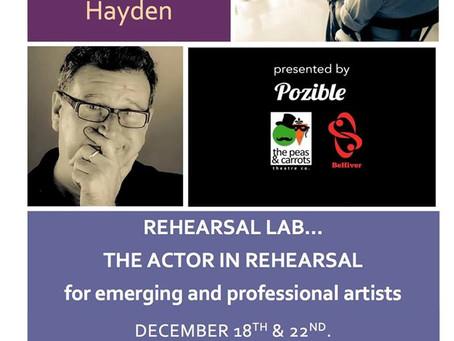 Workshop Update: Rehearsal Lab with Glenn Hayden