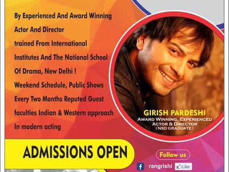 Theatre Workshop with actor GIRISH  PARDESHI ! [ India]