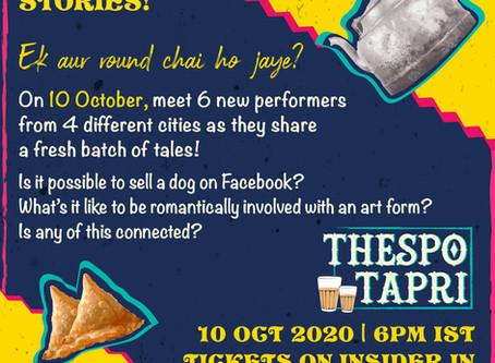 Thespo to showcase online live performances with THESPO TAPRI initiative!