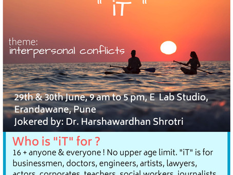 Theatre Workshop: This is iT an experiential workshop! [ E Lab Studio, India]