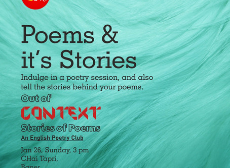 Soulful Poetry at NUKKAD CAFE in JAN!  [ Pune, INDIA ]