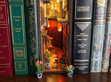 Book Nook Shelf Inserts that will calm your mornings!