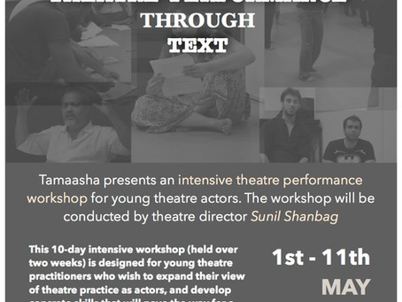 Studio Tamaasha presents Exploring Theatre performance Through Text Workshop [Mumbai]