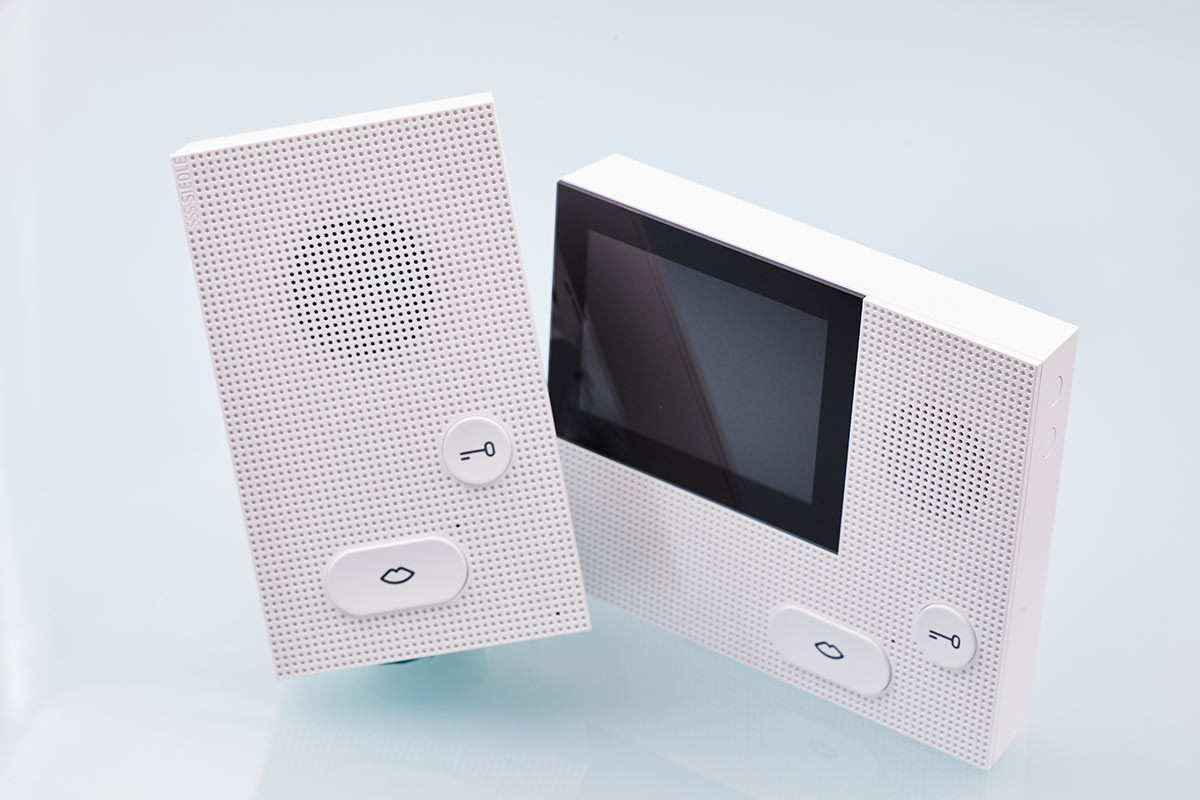Door intercom with and without video display from company Siedle