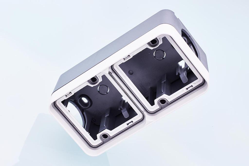 Plate-Waterproof-Doble vertical + Box-Waterproof-Double Vertical