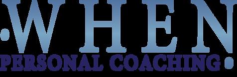 Logo: When Personal Coaching created by Martha Bergeron