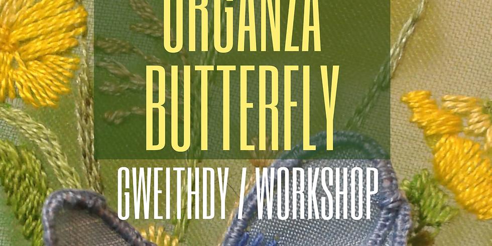 Glöyn Byw Organsa  / Organza Butterfly