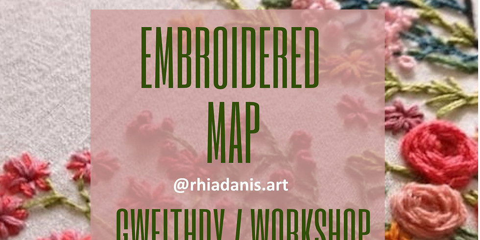Embroidered Map Brodwaith