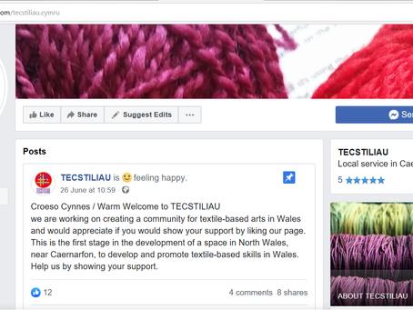 Lansiwyd Tecstiliau ar Facebook /                                    Tecstiliau launched on Facebook