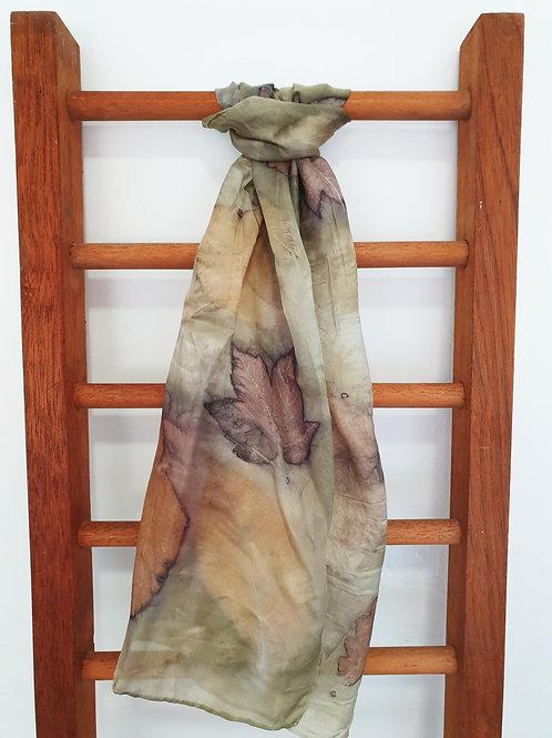 'Hydref' Eco-Print Silk Scarf