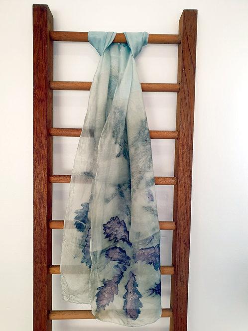'Oak Ends' Eco-Print Silk Scarf