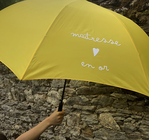 Sidonie le parapluie EN OR