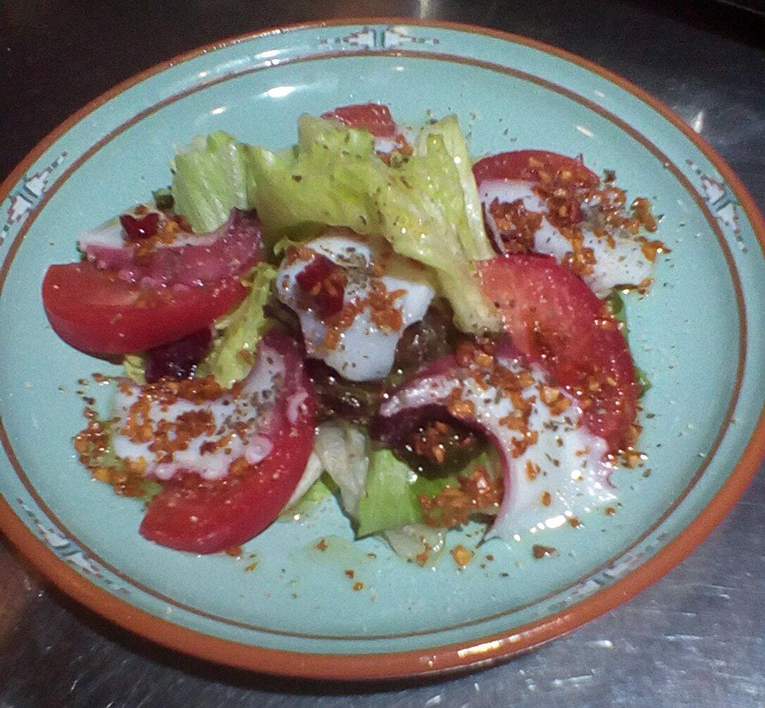 たことトマトのアーリオオーリオペペロンチーノ
