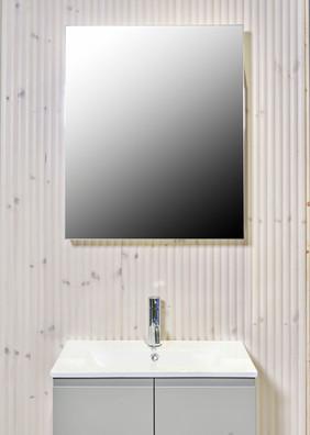 Sidehengslet speildør med tosidig speil
