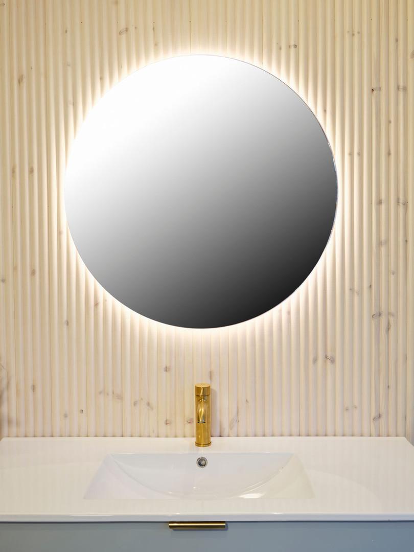 Rundt speil diameter 80 cm