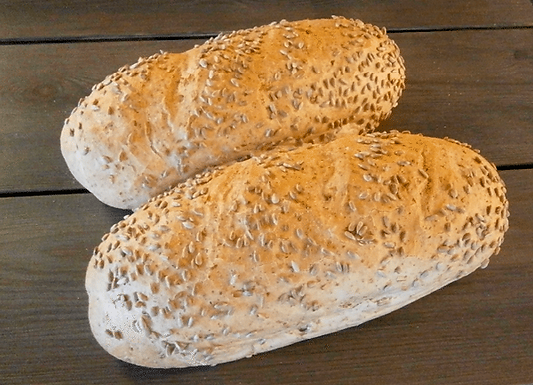 Steinovnsbakt kornbrød