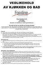 FossSnekkerivedlikeholdsanvisning0111201