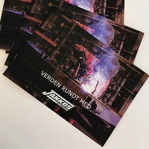Jankos brosjyre grafisk design