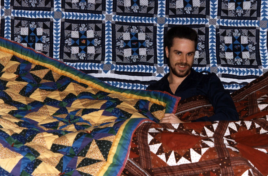 The first 3 quilts by Todd DuBay 1983