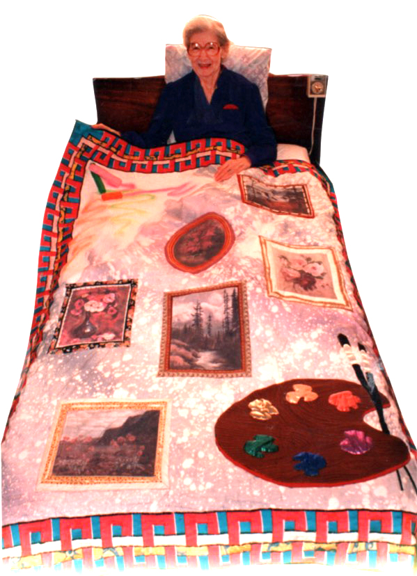 """""""All That is Gail"""" quilt by Todd DuBay 1993"""